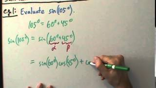 Trigonometry - Sum and Difference Formulas - Example 1