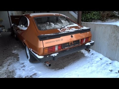 1981 Ford Capri 2.3 V6 cold start in winter
