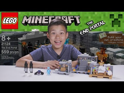 LEGO MINECRAFT - Set 21124 THE END PORTAL - Unboxing. Review. Time-Lapse Build