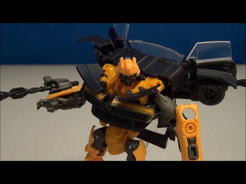 TRANSFORMERS 4 BUMBLEBEE AGE OF EXTINCTION VIDEO TOY REVIEW