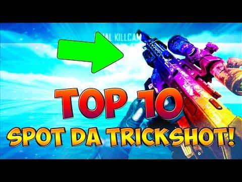 """TOP 10 """"SPOT/POSTI DA TRICKSHOT"""" NELLA STORIA DI CALL OF DUTY! (COD: Multiplayer - ITA)"""