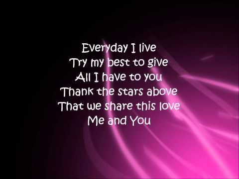 Me and You By: Kenny Chesney (Lyrics)