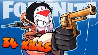 FORTNITE BR - 34 KILL SNIPER SHOOTOUT DUO VS SQUADS! (With Funny Moments!)