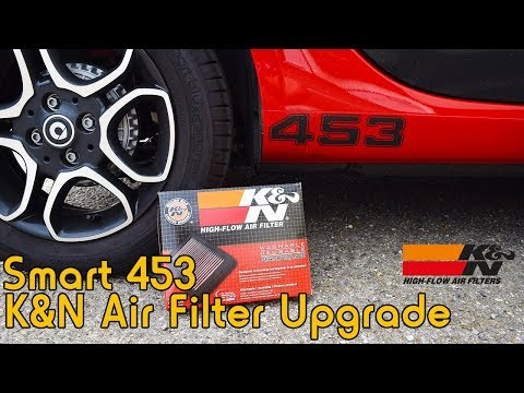 Smart 453 K&N Air Filter Upgrade - Review / Install / Sound