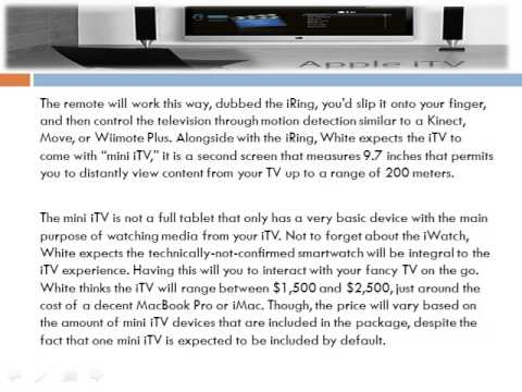 Apple iTV with finger-worn iRing remote control | technology news micron associates review