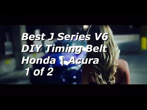 BEST DIY Honda Acura V6 J Series Timing Belt Replacement PART 1 - Bundys Garage