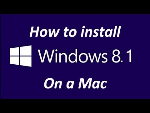 How to Install Windows Blue 8.1 on a Mac with Bootcamp Step by Step