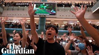 'Glory to Hong Kong': Hundreds gather to sing protest 'anthem'