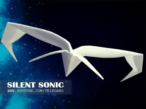 PAPER STARSHIP PLANE - How to make a paper airplane that Flies FAST & STRAIGHT | Silent Sonic