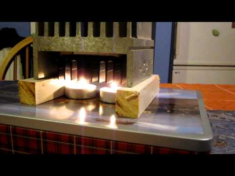 Thermoelectric Peltier Generator passive candle powered. HD