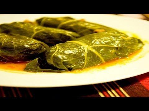Как приготовить виноградные листья с фаршем на мангале. | Vine leaves with meat on the grill.