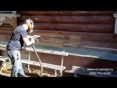 Видео как снять краску с дерева