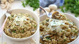 How to Make Easy Mushroom Risotto