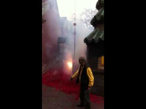 Quite Bizarre Fireworks for Chinese New Year in Macau