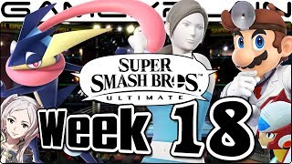 Smash Bros. Ultimate Update: Dr. Mario, WFT, Greninja, Zero, Boxing Ring, & FE Music Remix - Week 18
