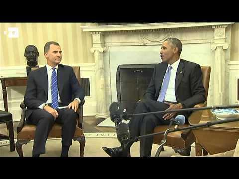 Obama expresa al Rey el compromiso de EEUU con una España fuerte y unida