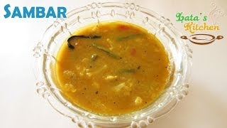 Sambar Recipe — South Indian Recipe Video by Lata Jain in Hindi with English Subtitles