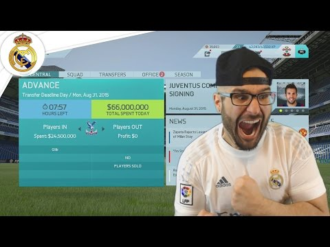 LAST CHANCE! TRANSFER DEADLINE! - Real Madrid Career Mode FIFA 16 #07
