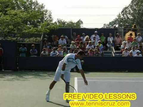 Radek Stepanek Slow Motion Tennis Serve Video
