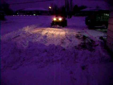Electric 4x4 ATV Plowing snow . For Sale E-mail for details