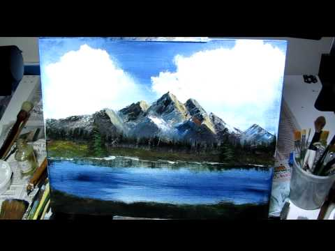 Mighty Mountain Lake (Bob Ross Style)