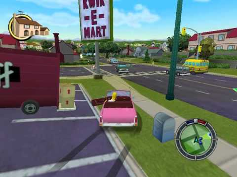 Simpsons Hit & Run ESPAÑOL Level 1 (Homero) Mission 1 y 2 HD