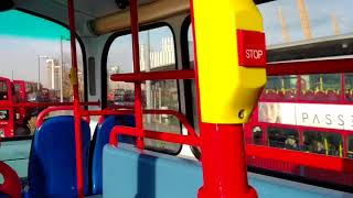 (HD) On board an Abellio Gemini on Route 188 at North Greenwich