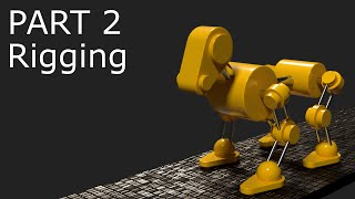 Blender Tutorial: Robot Dog Animation Part 2 - Rigging