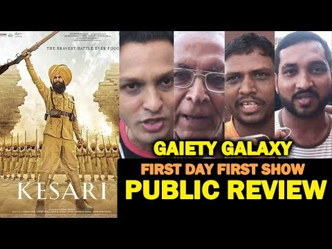 KESARI PUBLIC REVIEW | FIRST DAY FIRST SHOW | Gaiety Galaxy | Akshay Kumar thumbnail