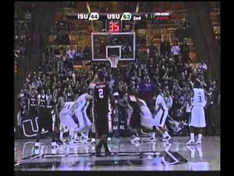 Crazy Free Throw by Idaho State's Kamil Gawrzydek