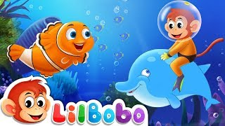 Underwater Learning : Colors & Numbers | Baby Shark Doo Doo | Little BoBo Rhymes - FlickBox Kids