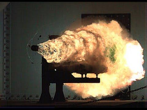 2014 September Breaking News USA Navy's Superweapon electromagnetic railgun Mach 7 targets 110 miles