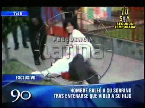 Hombre dispara a su sobrino por violador (imágenes impactantes)