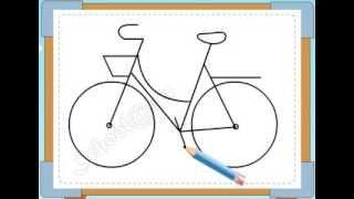 BÉ HỌA SĨ - Thực hành tập vẽ 240: Vẽ xe đạp