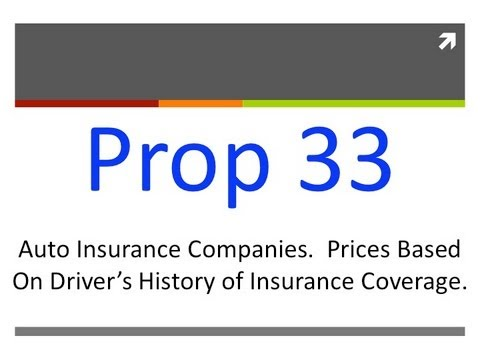 Proposition 33: Auto Insurance Rates (California General Election 2012)