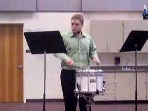 First Place Rudimental Snare Solo Finesse II by Tom Gregg