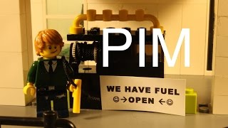 Lego Pim works at gas station
