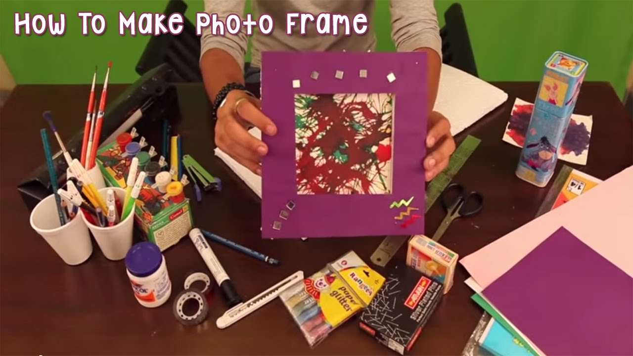 How to Make Handmade Paper Photo Frames How to Make Photo Frame