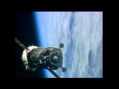 Soyuz hooks up to the station