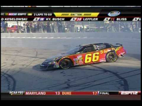 2009 Kroger 250 - Steve Wallace Crash Video