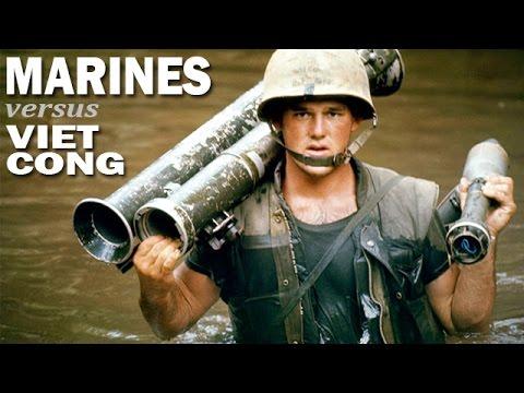 US Marines Against the Viet Cong | US Marines on Patrol in Vietnam | USMC Documentary