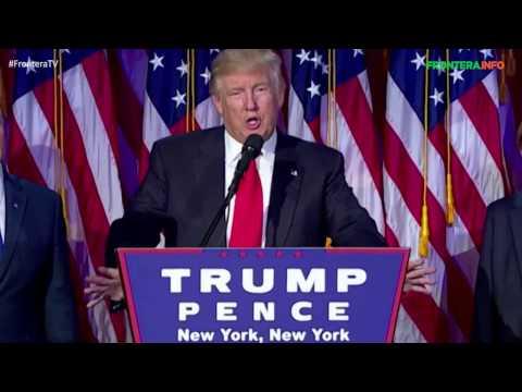 Donald Trump gana la presidencia de los EU