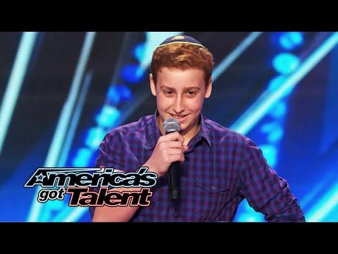 Josh Orlian: 12-year-old Standup Comedian Gets Naughty On Agt Stage - America's Got Talent 2014 video