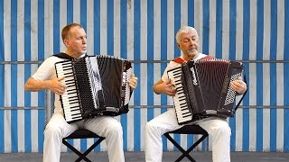 ADAMO Les filles du bord de mer  - Accordion Music Valse Musette Acordeon frances Akkordeon Duet Duo