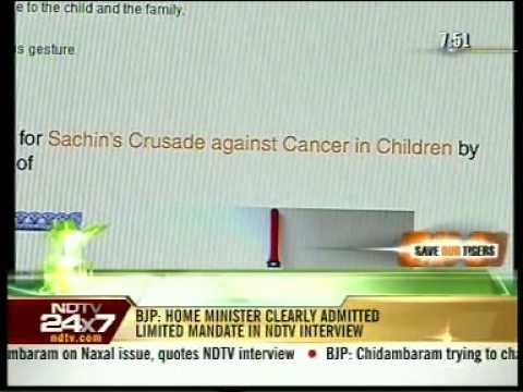 Sachin Tweets for Crusade against Cancer