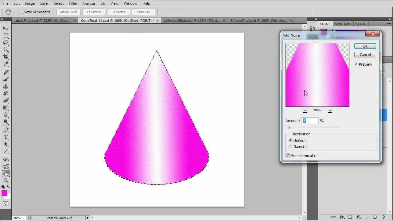 Use Gradients To Create 3d Objects In Photoshop Youtube