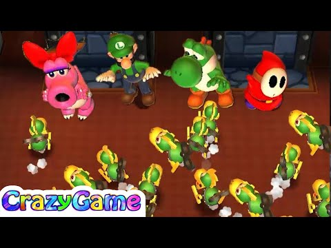Mario Party 9 Step It Up - Birdo vs Yoshi vs Luigi vs Shy Guy Master CPU Gameplay