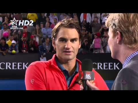 Roger Federer interview after Tsonga match AO 2014