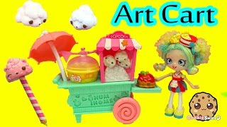 Scented Num Noms Popcorn Art Cart with 5 Exclusive Numnoms - Cookieswirlc Video
