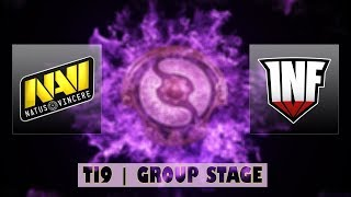 Navi vs INF | Ti9 Group Stage Bo2 | LIVE